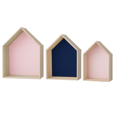 Bloomingville Deko-Regal Houses Rose/Navy/Rose ...