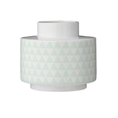 bloomingville vase wei mint breit online kaufen emil. Black Bedroom Furniture Sets. Home Design Ideas