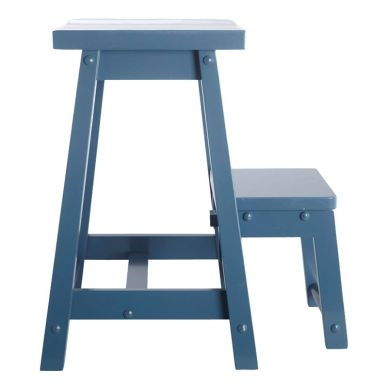 House Doctor Hocker Step Blau