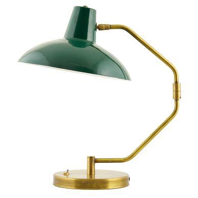 House Doctor Tischlampe Desk Mattgrün/Messing