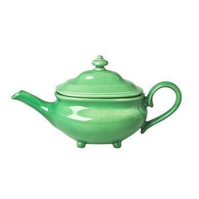 Rice Keramik-Teekanne Grün