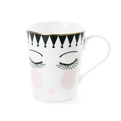 "Miss Étoile Coffee Mug ""Eyes and Dots"""