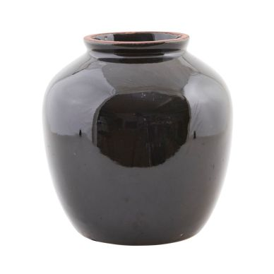 House Doctor Vase Shine Black L