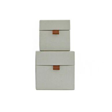House Doctor Aufbewahrungs-Box STD 2er-Set Grau...