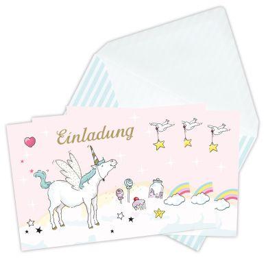 krima & isa Einladungskarten Einhorn
