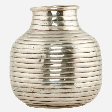 House Doctor Vase Vertical Silberfarben klein