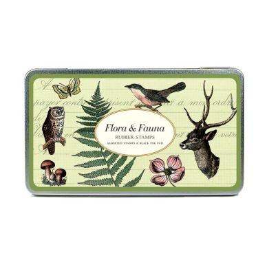 Cavallini Stempelset Flora & Fauna