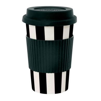 miss toile melamin travel mug stripes schwarz online kaufen emil paula. Black Bedroom Furniture Sets. Home Design Ideas
