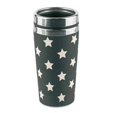 Miss Étoile Melamin Travel Mug To-Go Black/Whit...
