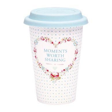 GreenGate Porzellan Travel Mug Abelone Mint