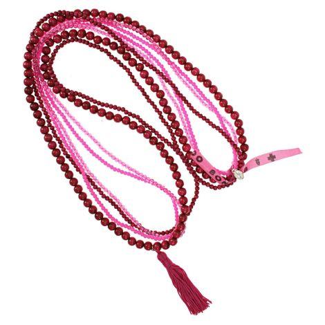 Escapulario Perlenketten Set mit Quaste Pink