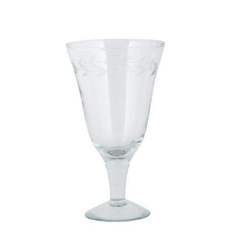 IB LAURSEN Rotweinglas mit Blattkante