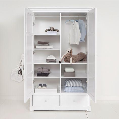 Oliver Furniture 2-türiger Kleiderschrank Weiß Hoch