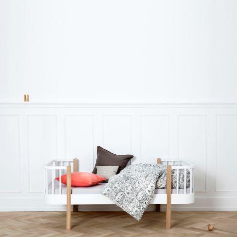 Oliver Furniture Junior- und Kinderbett Wood Weiß/Eiche