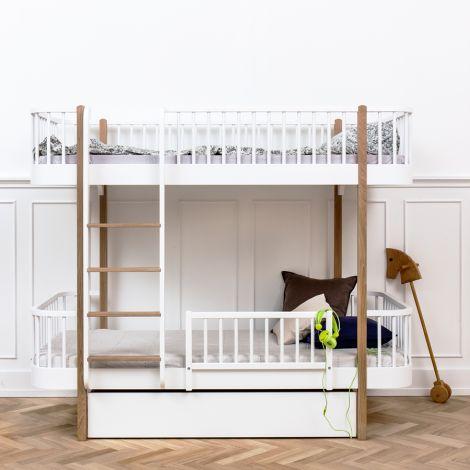 Oliver Furniture Etagenbett Wood Eiche - Leiter Vorne
