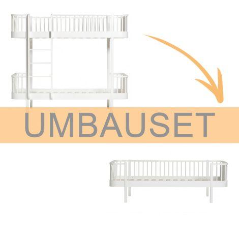 Oliver Furniture Umbauset Wood Etagenbett zum Bettsofa Weiß