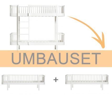 Oliver Furniture Umbauset Wood Etagenbett zu 2 Bettsofas Weiß