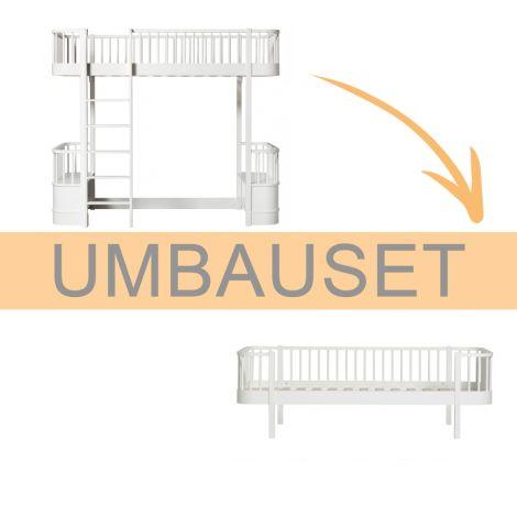 Oliver Furniture Umbauset Wood Hochbett zum Bettsofa Weiß