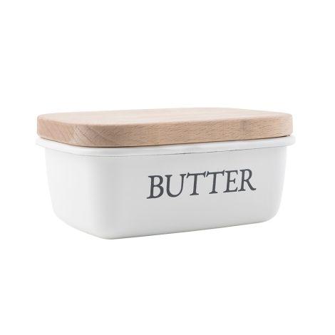 IB LAURSEN Butterschale Emaille