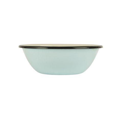 IB LAURSEN Schale Emaille Hellblau/Creme (innen) 16,5 cm