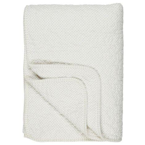 IB LAURSEN Tagesdecke Quilt Weiß/Creme Pünktchen