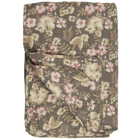 IB LAURSEN Tagesdecke Quilt Rosa Blumen