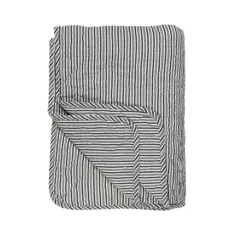 IB LAURSEN Quilt Weiß/Schwarze Streifen