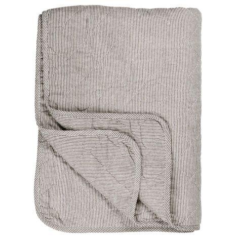 IB LAURSEN Quilt Weiß Grau Gestreift