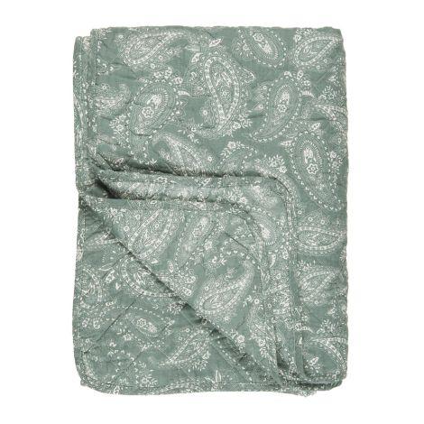 IB LAURSEN Tagesdecke Quilt Staubgrün/Paisley