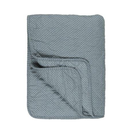 IB LAURSEN Quilt Blau mit Pünktchen