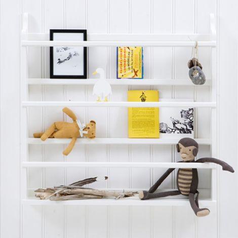 Oliver Furniture Tellerregal Weiß