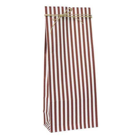 IB LAURSEN Geschenktüte Gestreift Rot/Weiß länglich 10 Stück •
