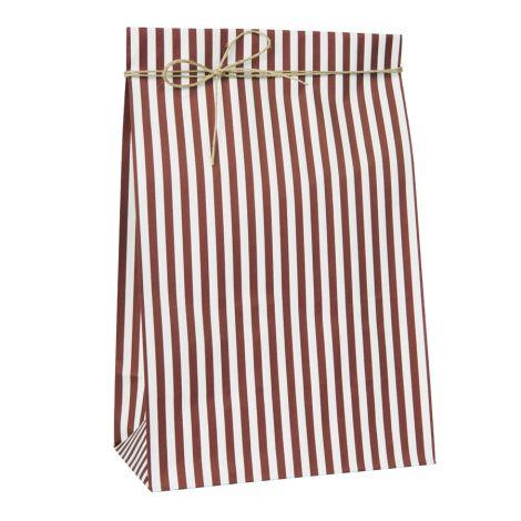 IB LAURSEN Geschenktüte Gestreift Rot/Weiß 10 Stück