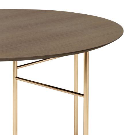 ferm LIVING Tischplatte Mingle Round Dark Stained Oak Ø130
