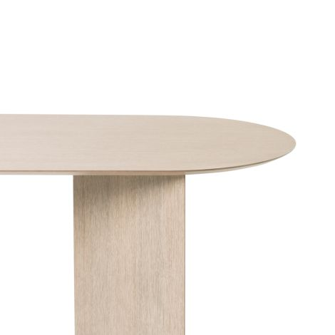 ferm LIVING Tischplatte Mingle Oval Natural Oak Veneer 220 cm