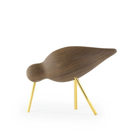 Normann Copenhagen Shorebird Medium Walnut Brass