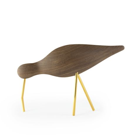 Normann Copenhagen Shorebird Large Walnut Brass