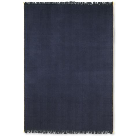 ferm LIVING Tagesdecke Herringbone Dark Blue