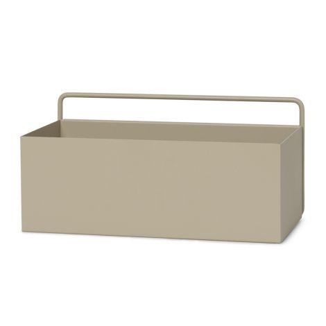 ferm LIVING Aufbewahrungsbox Wand Rectangle Cashmere
