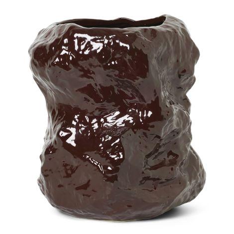 ferm LIVING Vase Tuck Red Brown