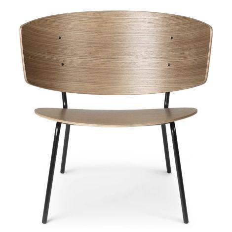 ferm LIVING Stuhl Herman Lounge Chair Dark Stained Oak