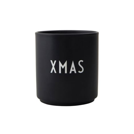 Design Letters Porzellan Becher Favourite Cups X-Mas Black