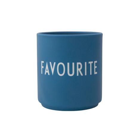Design Letters Porzellan Becher Favourite Cups Favourit Dark Blue