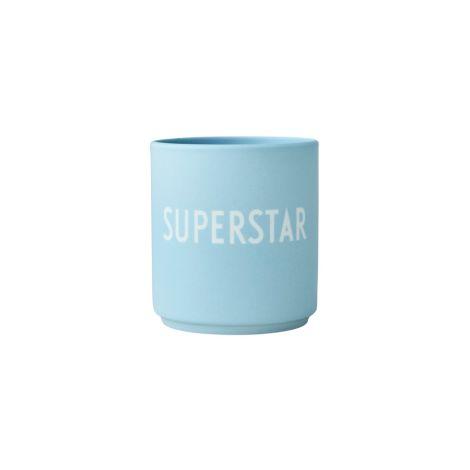 Design Letters  Porzellan Becher Favourite Cups Light Blue Superstar