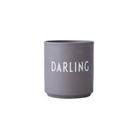 Design Letters  Porzellan Becher Favourite Cups Dusty Purple Darling