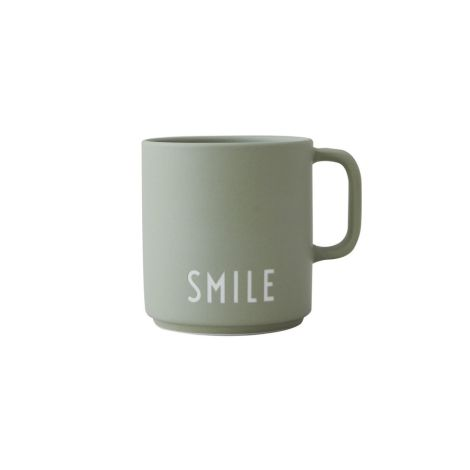 Design Letters Porzellan Tasse Favourite Cups Smile Green