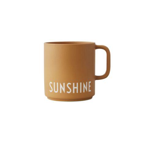Design Letters Porzellan Tasse Favourite Cups Sunshine Mustard