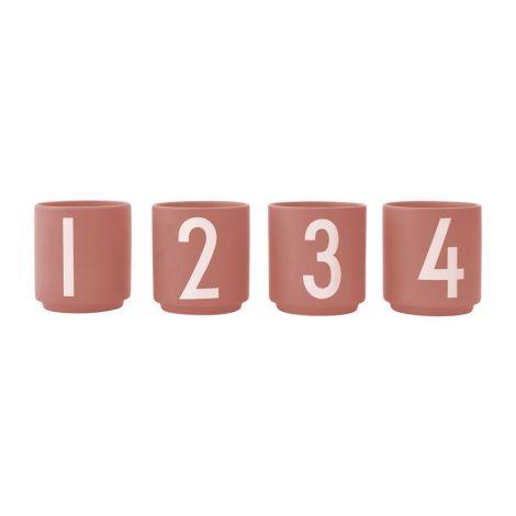 Design Letters Porzellan Espresso-Becher Nude 4er-Set