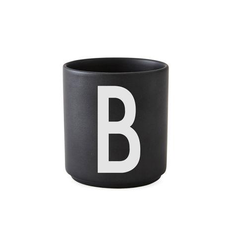 Design Letters Porzellan Becher B Schwarz