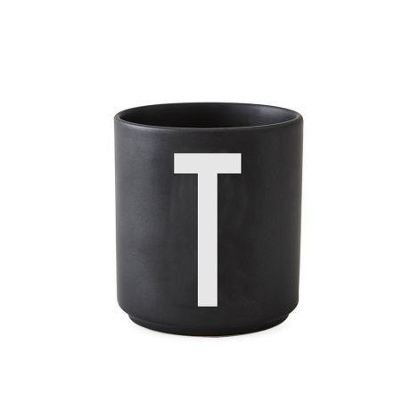 Design Letters Porzellan Becher T Schwarz